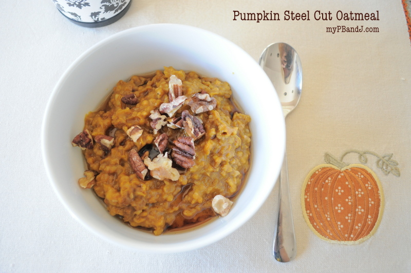 pumpkin steel cut oatmeal {recipe}