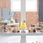 milk & cookies dessert table {literary themed wedding}